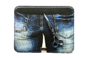 Mini Pad ecoopelle con stampa jeans